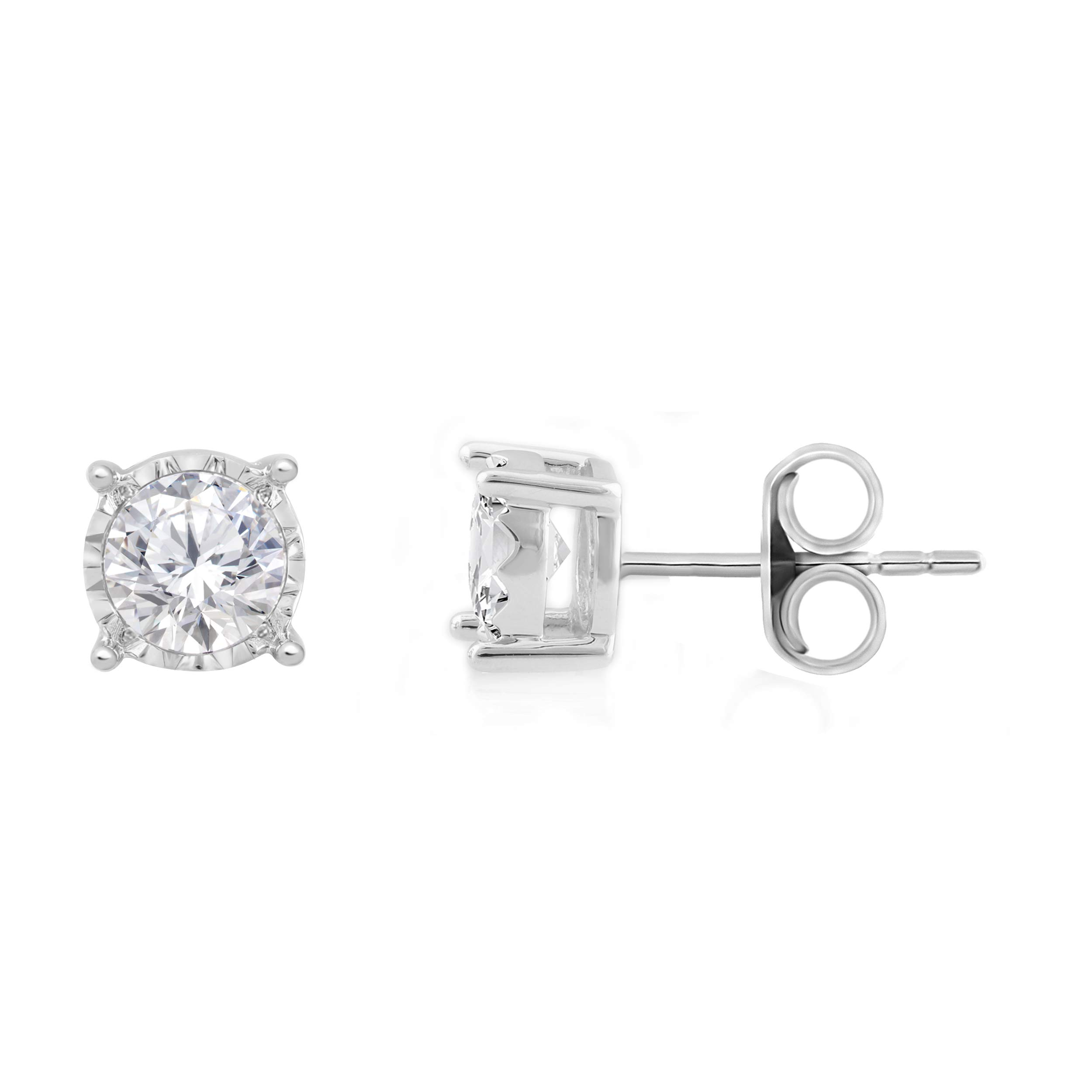 Diamond Miracle Plate Earring (white-gold, 1.00)