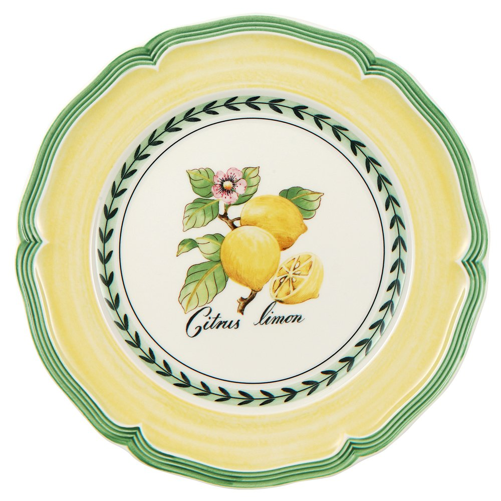 French Garden Valance Salad Plate Set of 6 by Villeroy & Boch - 8.25 Inches