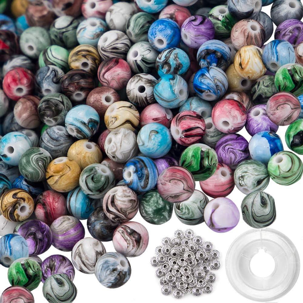 100pcs Skull Shape Acrylic Beads Loose Space Beads for Beading Bracelet DIY