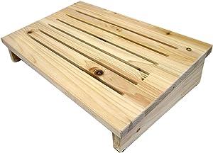 JBS Wellbeing Cedar Wooden Foot Rest Stool Footrest Bench Desk Furniture Home/Office