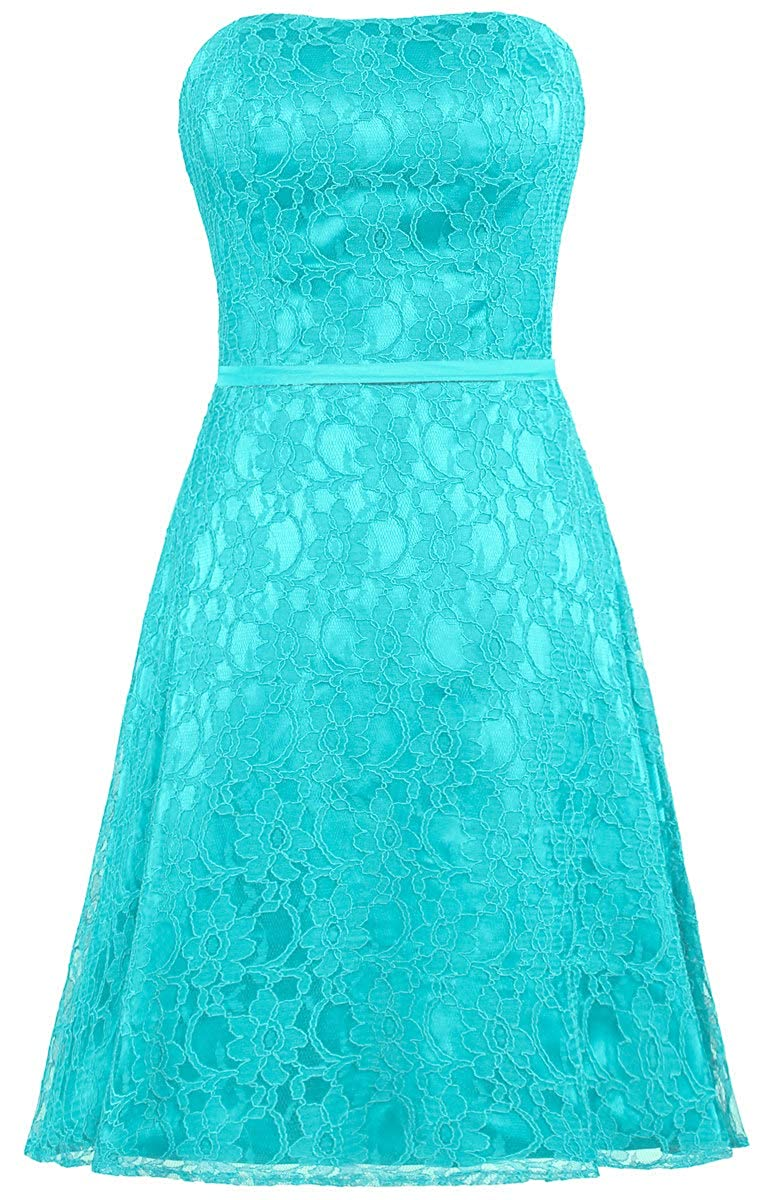 Jade ANTS Women's Strapless Lace Bridesmaid Dresses Short Party Gown