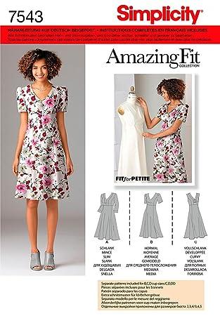 Simplicity Schnittmuster 7543 AA Kleid mit individuellen ...