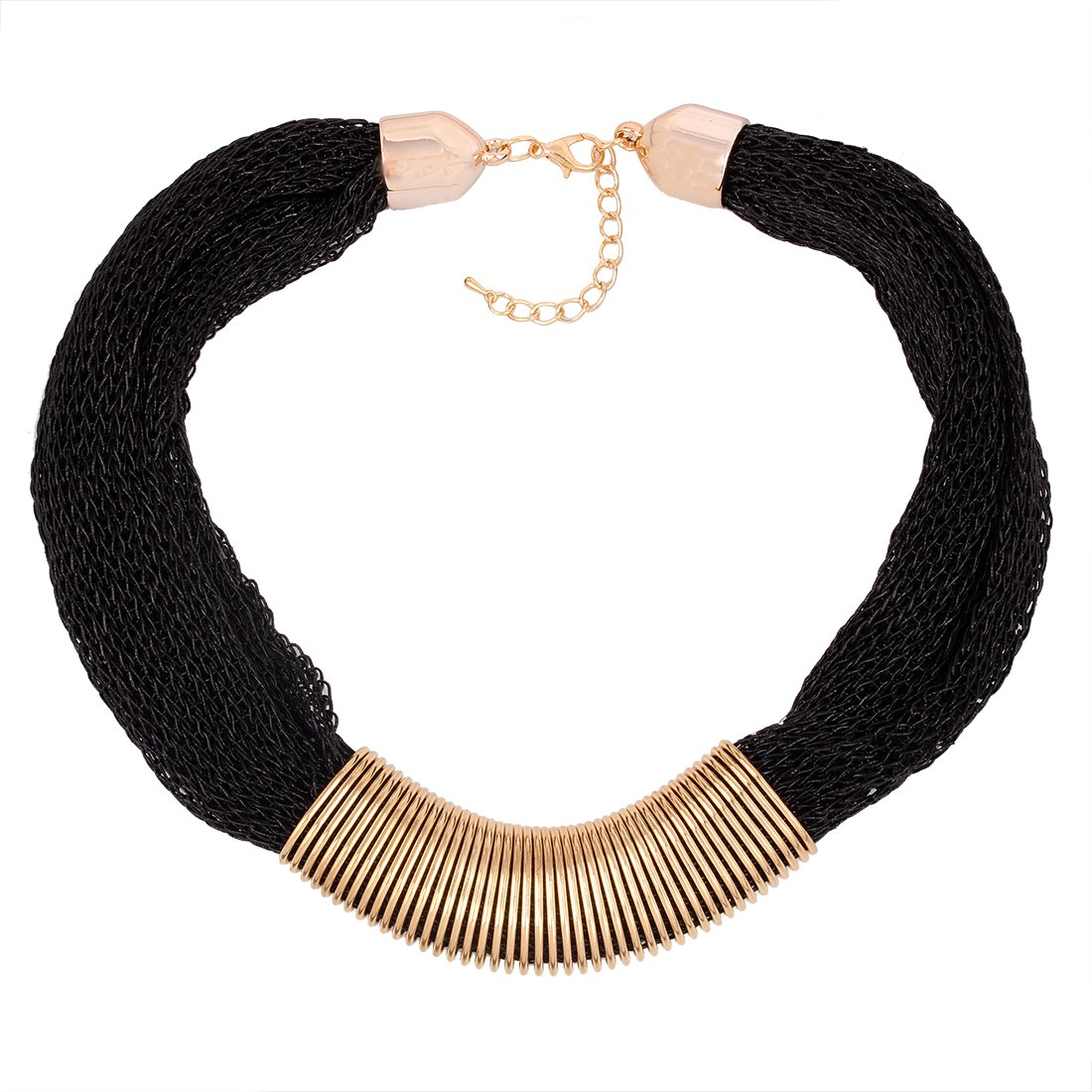 Qiyun Winter Mesh Web Link Chains Bold Chunky Tibet Bib Choker Necklace Maille Hiver Web Liens Tibet Collier W005N2171