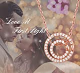 FOREVER QUEEN Love Necklace, Double Circle Necklace