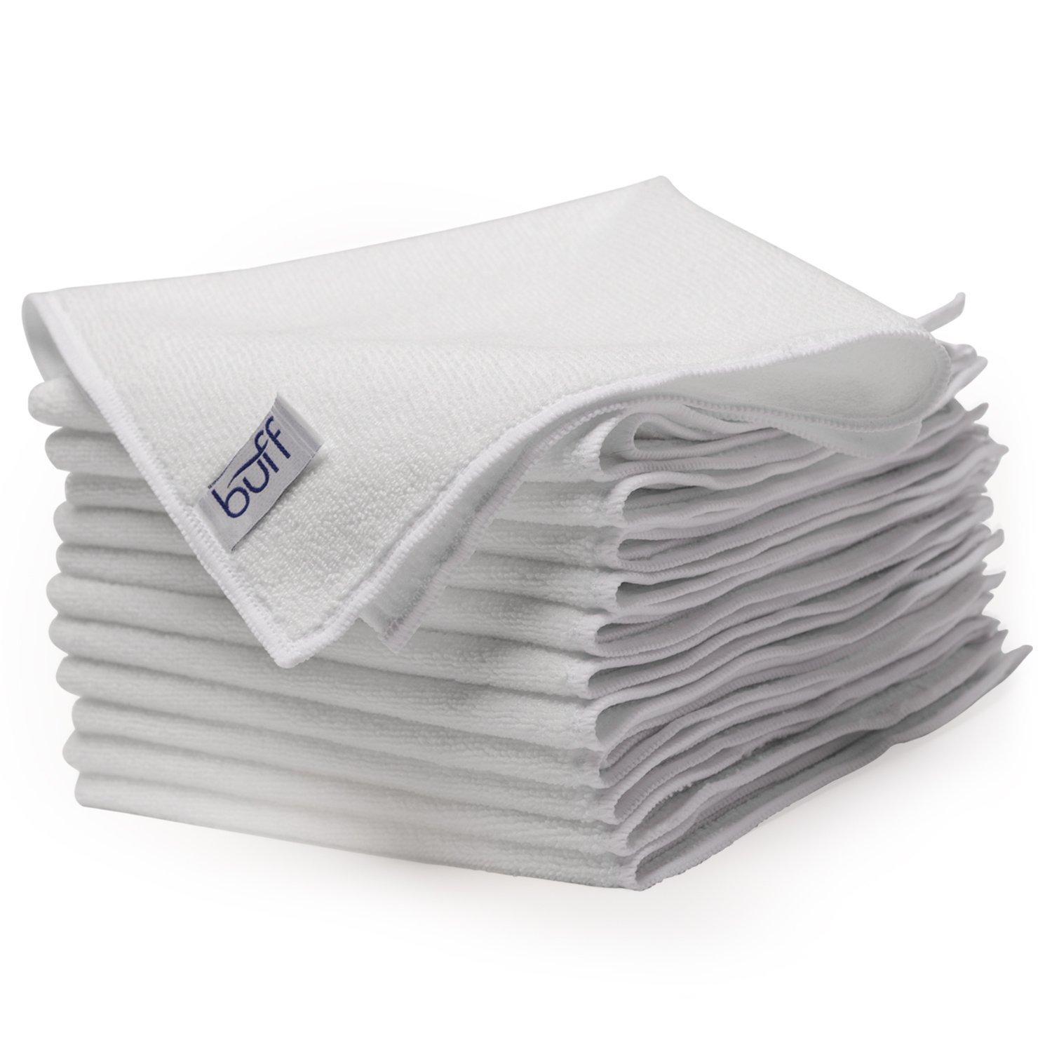 """White Microfiber Cleaning Cloths 
