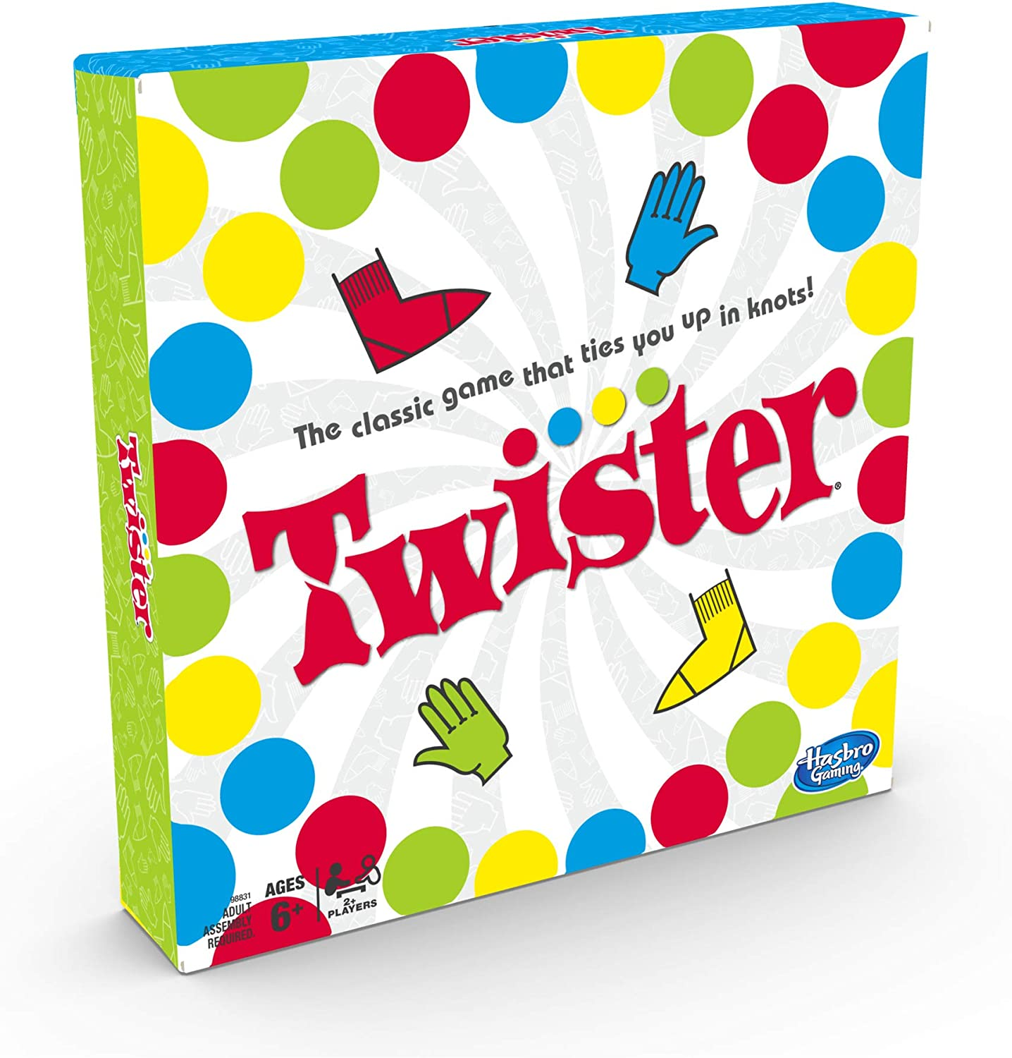 Amazon Com Twister Game Party Game Classic Board Game For 2 Or More Players Indoor And Outdoor Game For Kids 6 And Up Packaging May Vary Toys Games