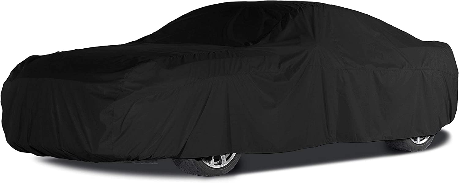 Covermates Outdoor Car Covers - Weathertite Max Solution Dyed Polyester - Weatherproof and Fade Resistant - Black