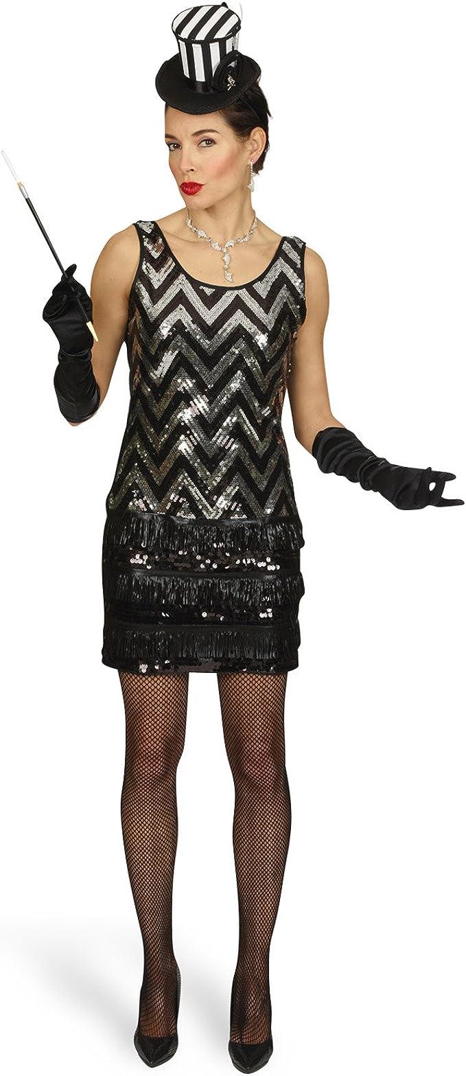 Disfraz de charlestón - minivestido de fiesta con lentejuelas ...