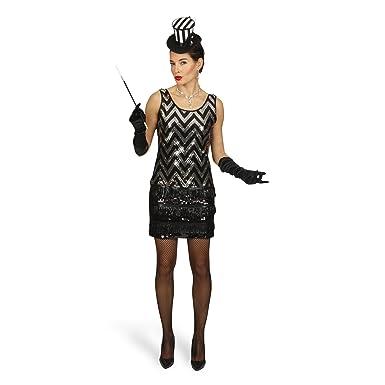 Das Kostümland Disfraz de charlestón - minivestido de fiesta ...
