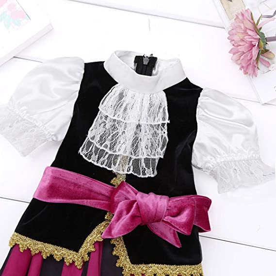 2in1 Reversible Girls Princess /& Pirate Halloween Party Fancy Dress Costume