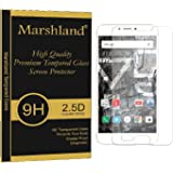 Marshland YU YUNICORN YU5530 Tempered Glass Screen Protector Slightly Small Crystal Clear 9H Hardness 2.5 Round Edge 0.33mm thickness 99% Transparency Bubble-Free Multi-Layered Screen Protector Extra Sensitive Touch Screen Shatter Proof Tempered Glass Specially Designed for YU YUNICORN YU5530