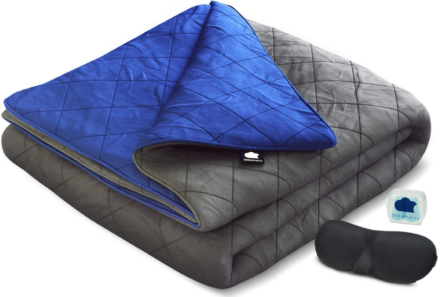 DREAMality Weighted Blanket 20 lbs 60''x80'' with Integrated Cotton Weighted Blanket Cover - Heavy Weighted Blanket for Kids Adult Full Queen Twin Size Comforter - Premium Cooling Weighted Blankets