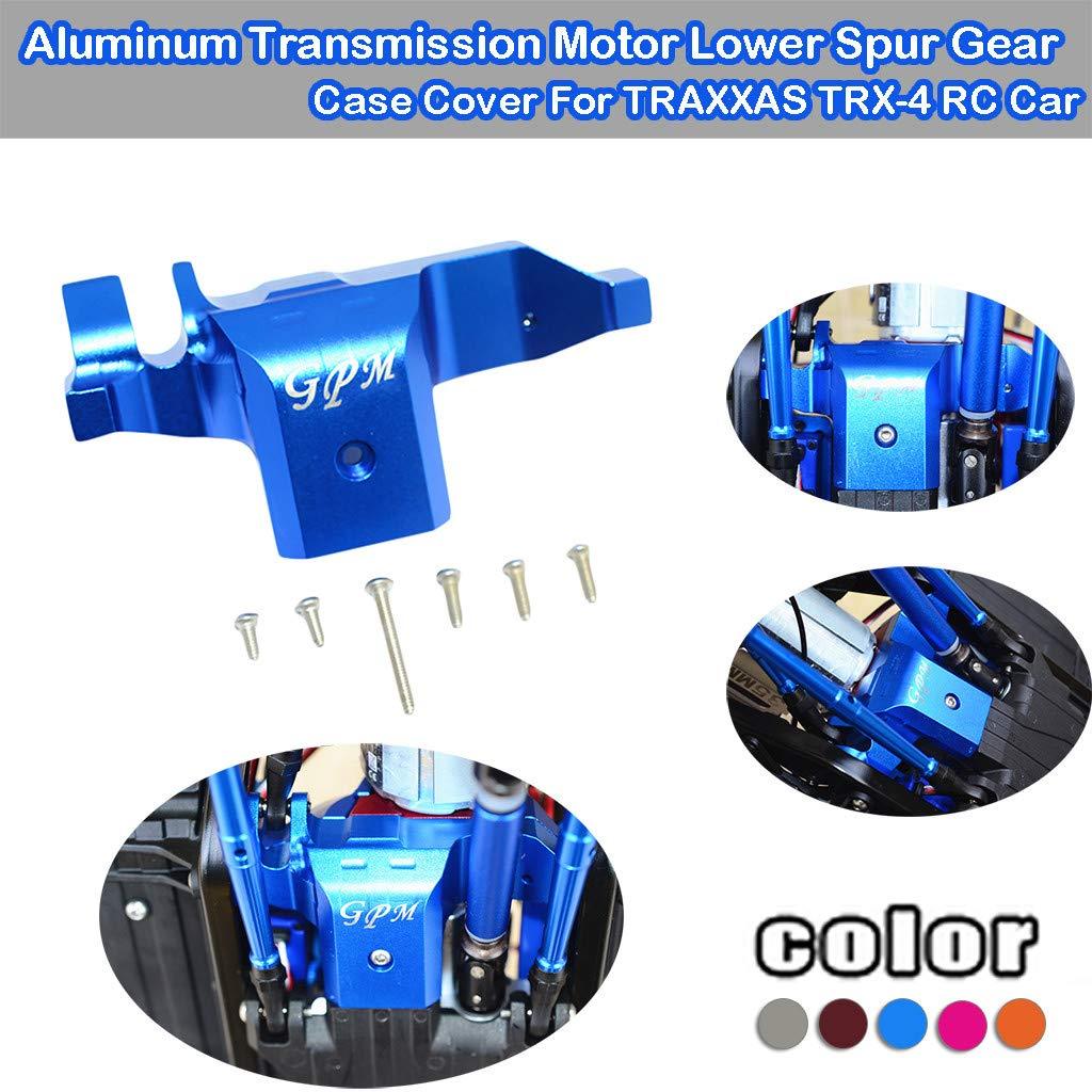 Sdoveb Aluminum Transmission Motor Lower Spur Gear Case Cover Round Head Screw for TRAXXAS TRX-4 RC Car Gray