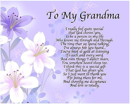 My Grandma Poème Personnalisé Pour La Fête Des Mères