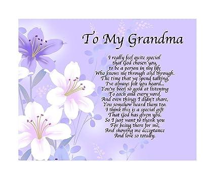 Personalised To My Grandma Poem Mothers Day Birthday Christmas
