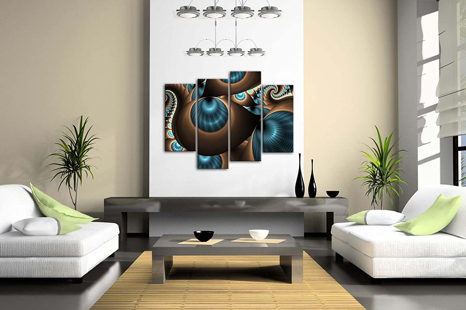 Amazon.com: Abstract Blue Brown Like Several Holes Wall Art Painting The  Picture Print On Canvas Abstract Pictures For Home Decor Decoration Gift:  Posters U0026 ...