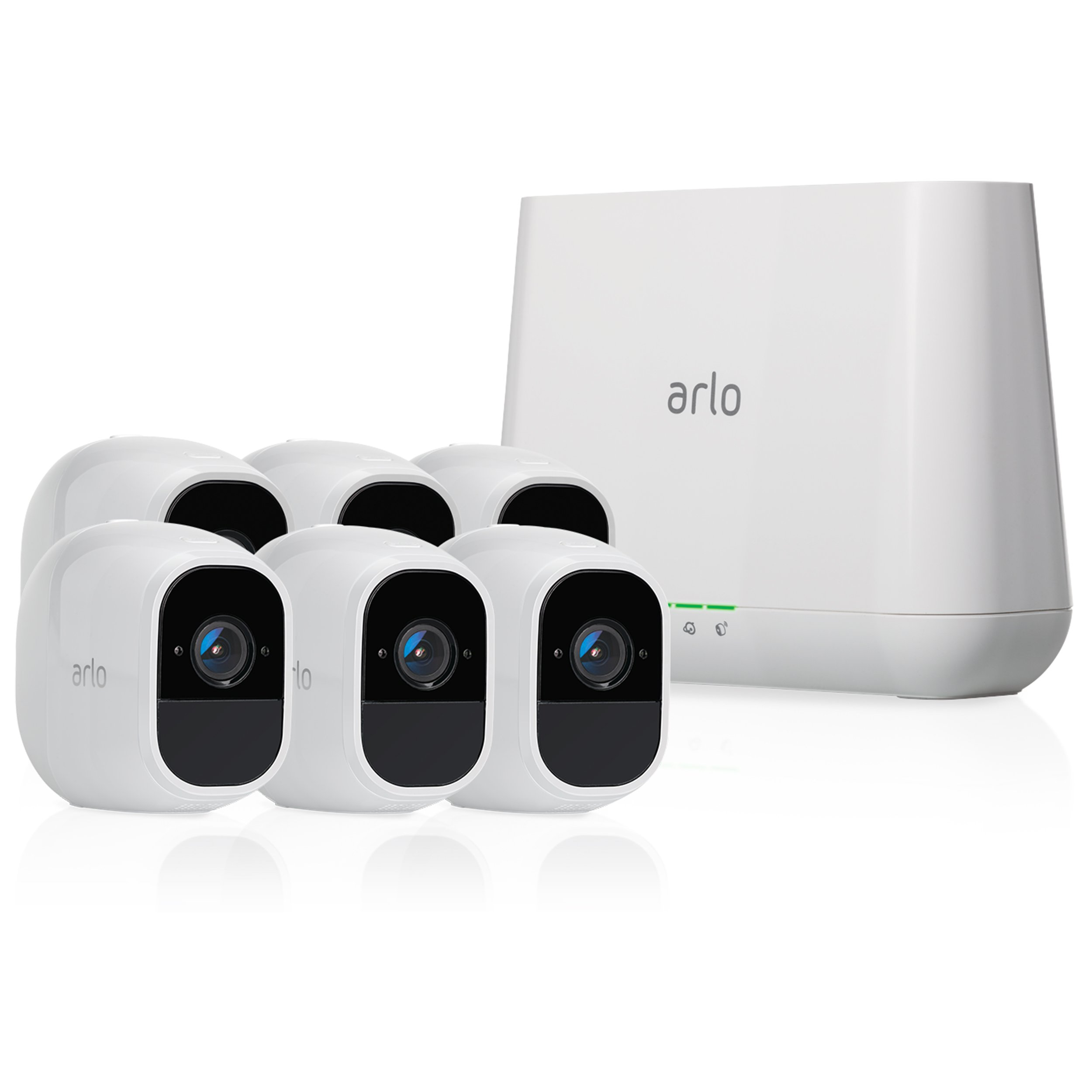 Arlo Pro 2 by NETGEAR Home Security Camera System (6 pack) with Siren, Wireless, Rechargeable, 1080p HD, Audio, Indoor or Outdoor, Night Vision, Works with Amazon Alexa (VMS4630P)