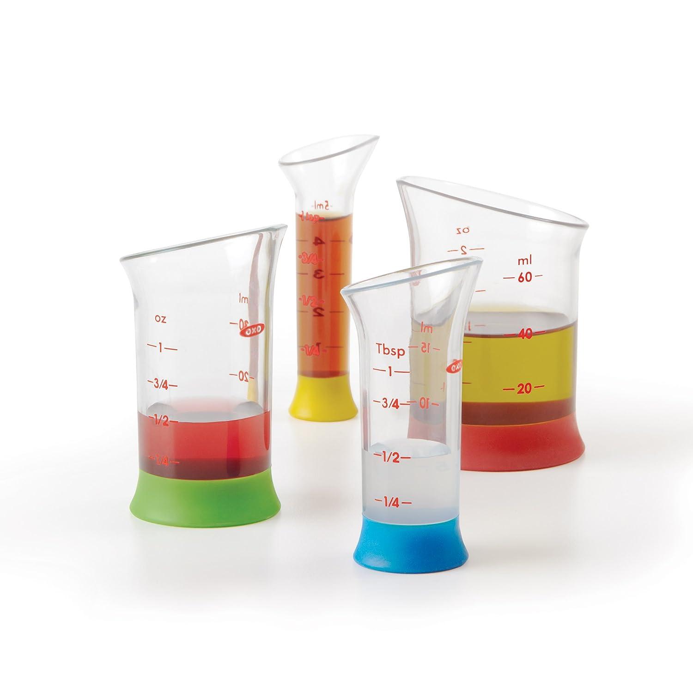Amazon.com: OXO Good Grips 4 Piece Mini Measuring Beaker Set: Kitchen U0026  Dining