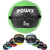 POWRX - Wall ball palla medica 2 - 10 kg - (5 kg / Verde)