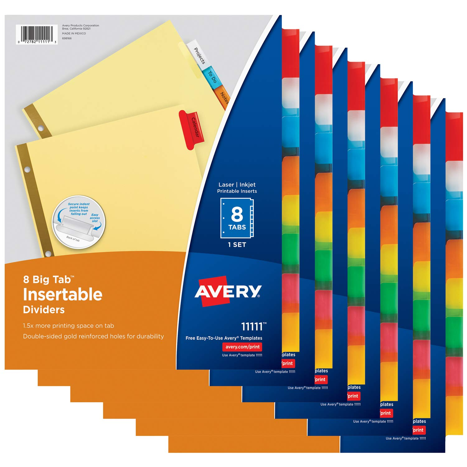 Amazon Avery Big Tab Insertable Dividers Buff Paper 8 Tab