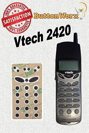 Vtech teléfono inalámbrico teclado botón reparación 20 - 2420: Amazon.es: Electrónica