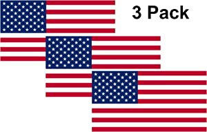Rogue River Tactical American USA Flag Sticker Patriotic Stars and Stripes United States Auto Car Decal Window Bumper US Military (3 Pack 3x5)