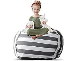 Creative QT Stuffed Animal Storage Bean Bag Chair - Kid Bean Bag Chair - Beanbag Cover - Stuffed Animal Holder - Beanbag Chai