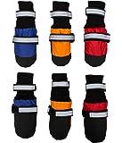 Megi® Waterproof Pet Boots for Medium to Large Dogs Labrador Husky Shoes 4 Pcs