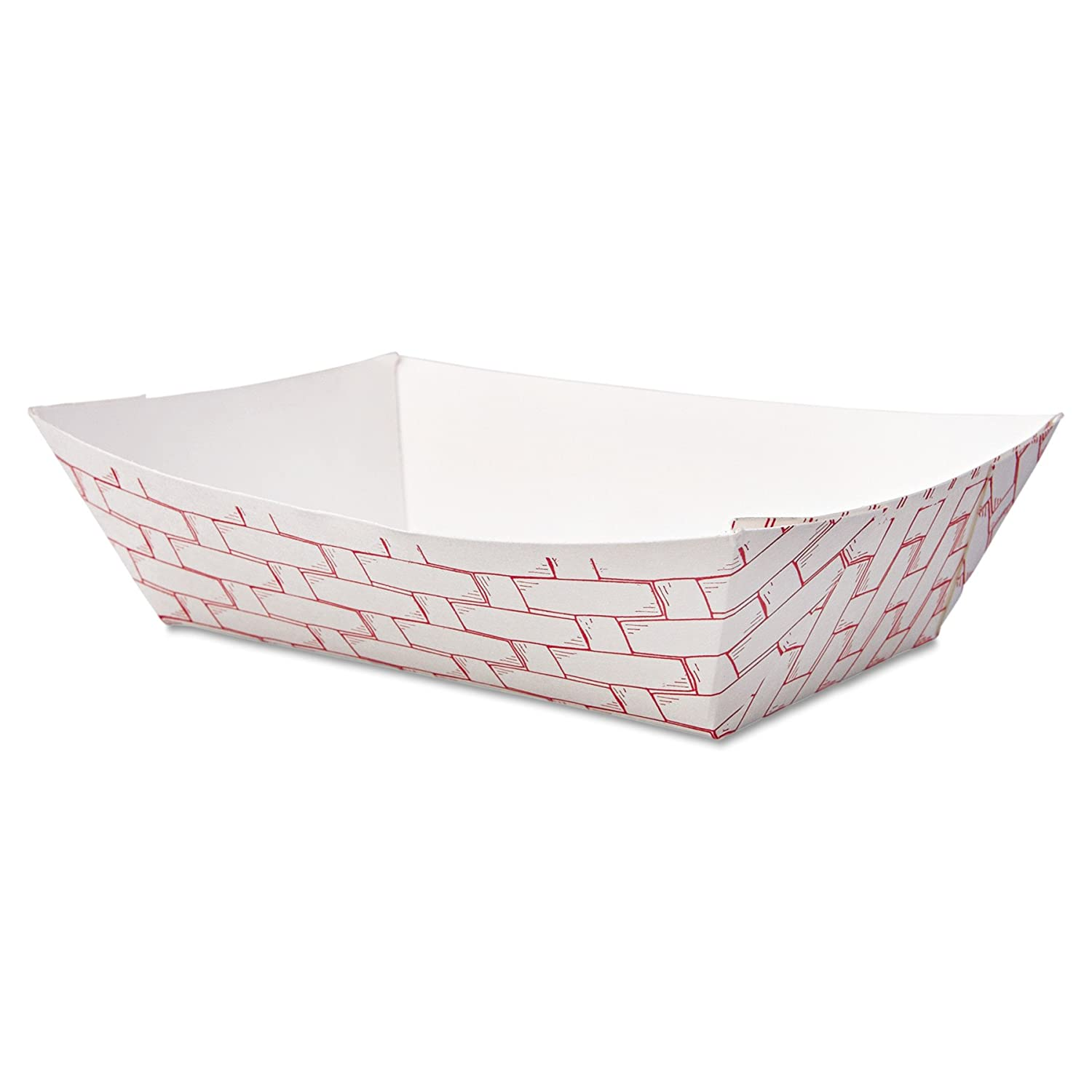 Boardwalk Paper Food Baskets 1 lb Capacity Red//White 1000//Carton 30LAG100