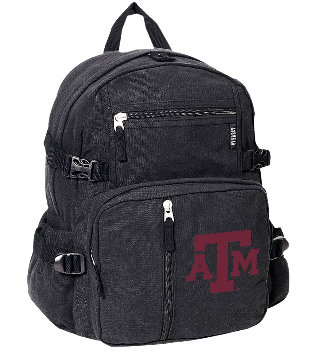 Texas A & MバックパックキャンバスTamu Aggies学校や旅行バッグ B01E7SKMXU