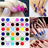 Lookathot 36 colores gel UV Builder Set de acrílico Nail Art DIY decoración Hydrogel Tips láser parpadeante Powder…