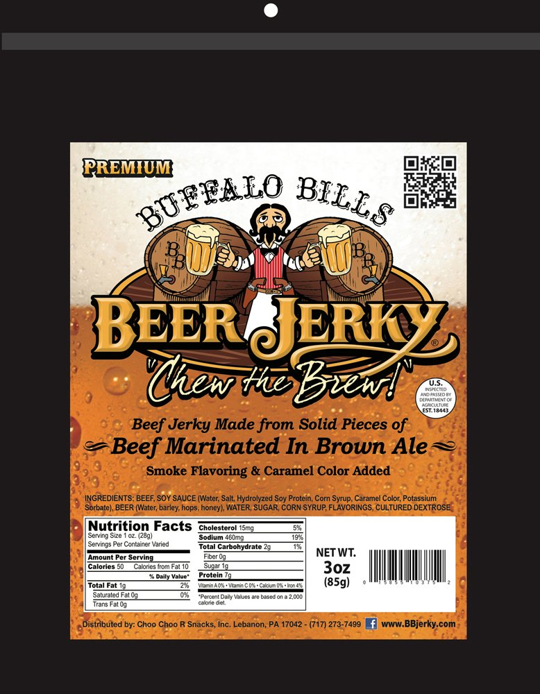 Buffalo Bills Premium 3oz Jerky Sampler 4-Pack (4 assorted packs of beef jerky & turkey bacon jerky) by Buffalo Bills (Image #2)