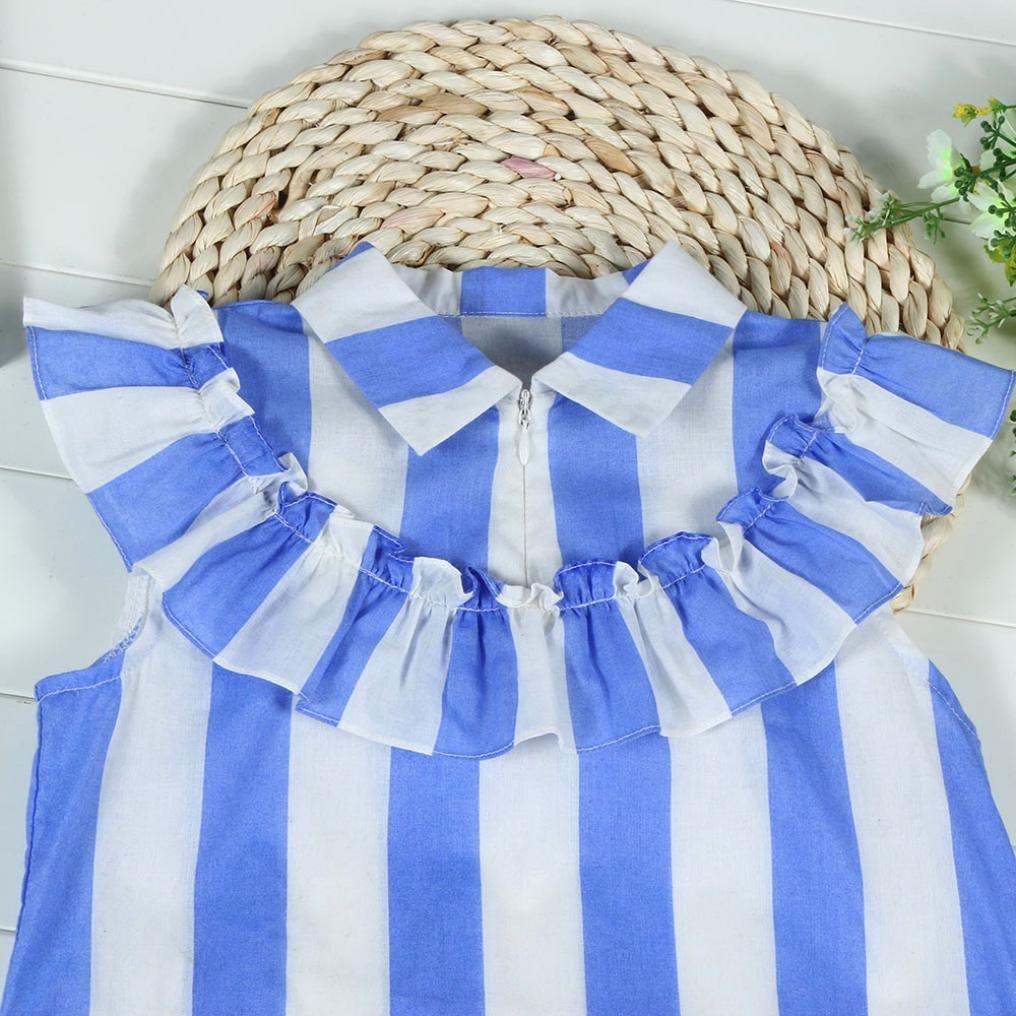 Memela Explorer Adventure Little Girls High Street Stripe Sleeveless Dress Spring//Summer