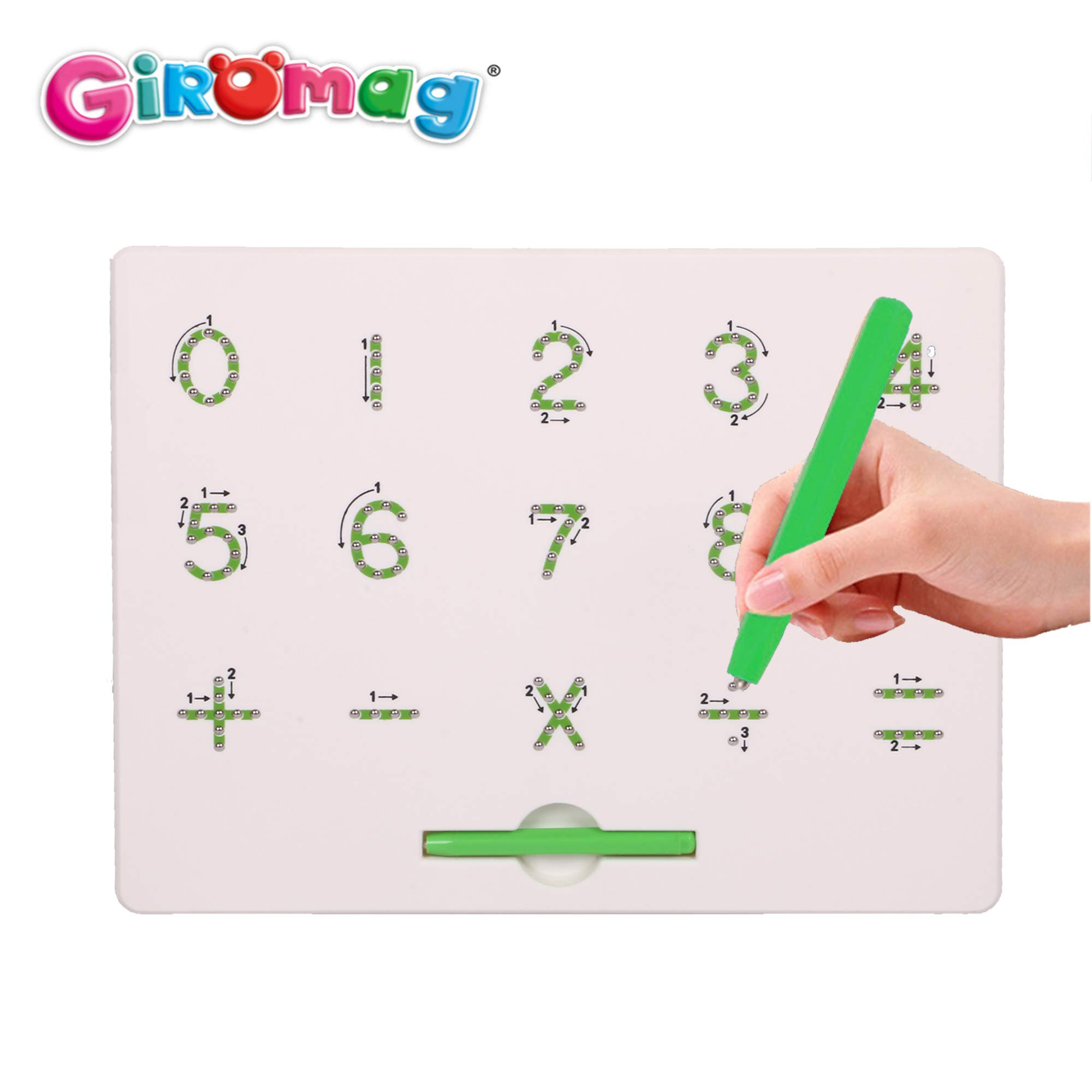 Giromag 0 to 9 Number Magna Tab for Kids Educational Toy Magnetic Balls Board Magnet Tablet(8639N-123)