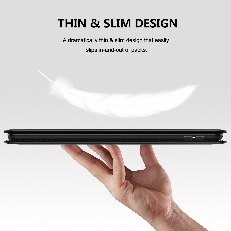iPadPro10.5Case,LoHiGenuineLeatherBusinessCaseAutoSleepMulti-FunctionalAdjustableStandProtectiveCoverforAppleiPadPro10.5Inch2017Model(Black)