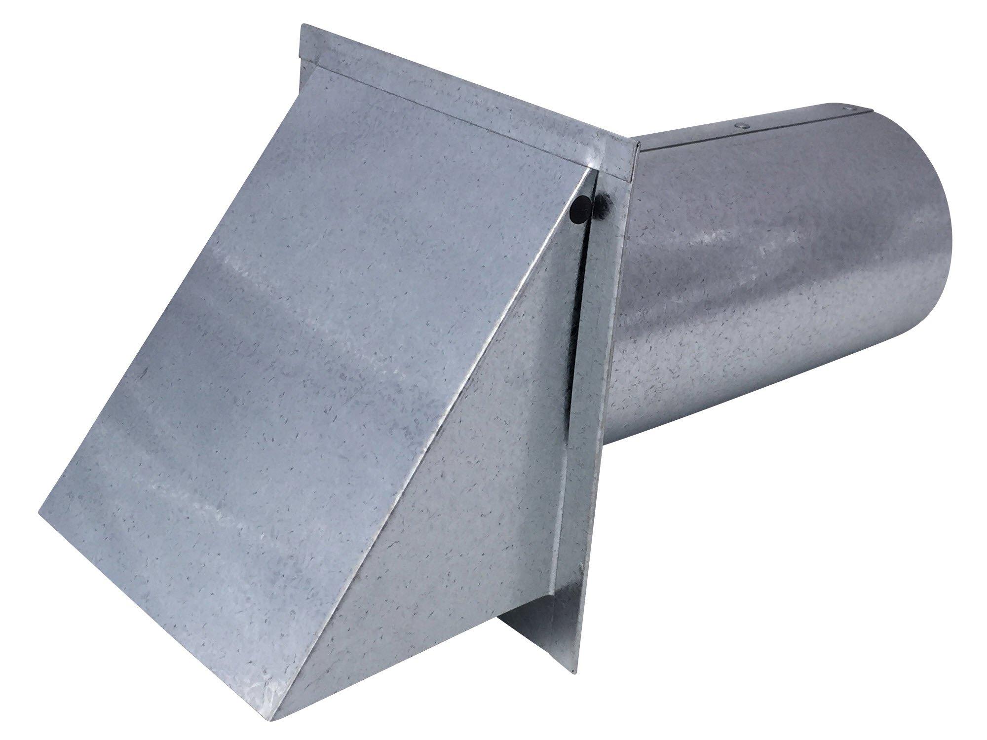 Dryer Wall Vent Galvanized Steel (Standard 4 Inch Diameter Exhaust) - Vent Works