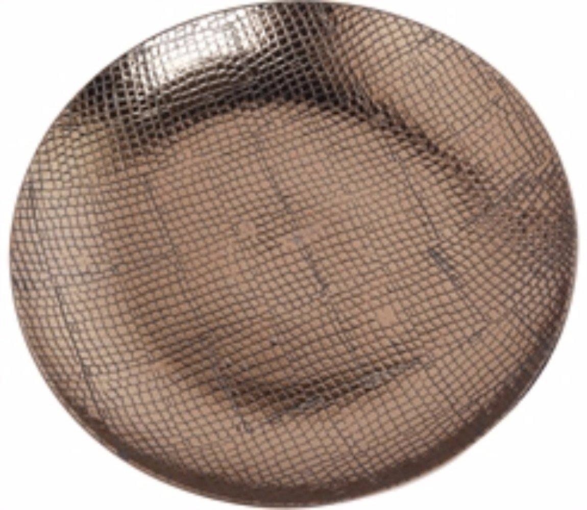 Benzara Ceramic Reptile Textured Decorative Plate, Brown by Benzara