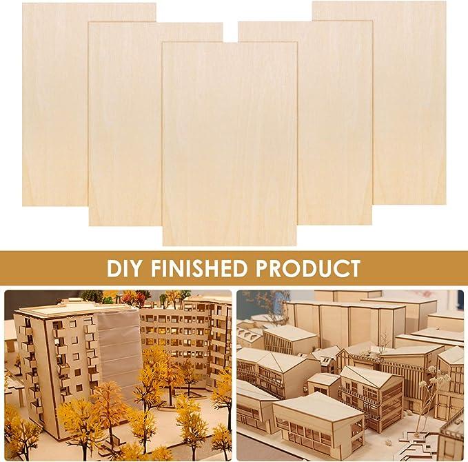 Lote de 15 hojas de madera de tilo delgadas para construcci/ón corte de madera escultura HEALLILY artesan/ía 150 x 100 x 3 mm rect/ángulo