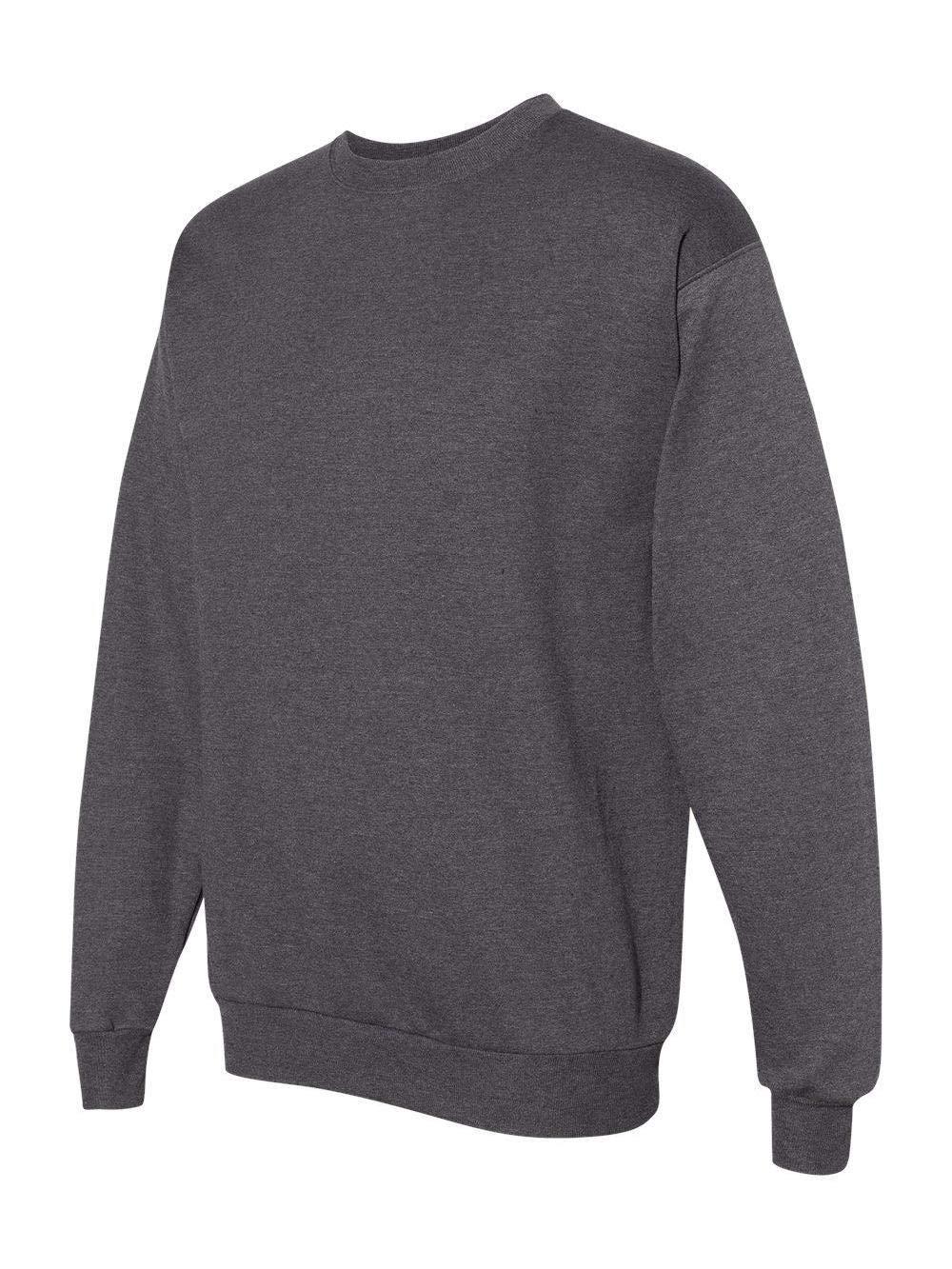 Hanes ComfortBlend EcoSmart Men`s Crew Sweatshirt - Best-Seller, S, Charcoal