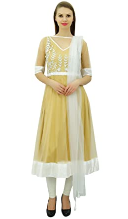 e8d9bf65e6 Amazon.com: Atasi Women's Indian Ethnic Designer Long Flared Anarkali  Salwar Suit: Clothing