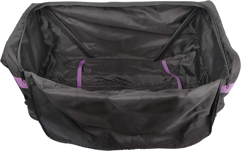 Black//Purple - 36 Marco Polo Air Lite wheeled travel duffel bag