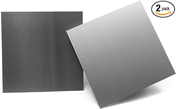 Amazon Com 1mm Aluminum Metal Sheets 2 Pack 12 X 12 Inches 039 Inch Thickness Home Improvement