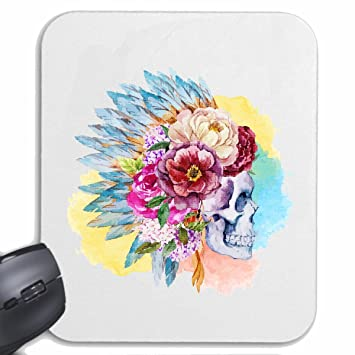 Mousepad alfombrilla de ratón Red Chief VINTAGE CRÁNEO CON LA CABEZA INDIA occidental indio INDIOS para