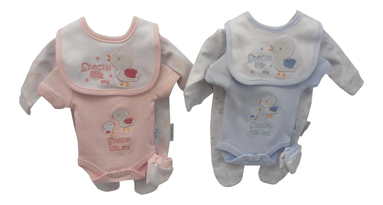 4 piezas de ropa de bebé prematuro azul azul Talla:3/5 lbs (1.4-2.3 ...