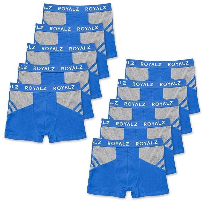 ROYALZ bóxers para Hombre Multipack (Pack DE 10) Ropa Interior Calzoncillos Underwear, Ropa