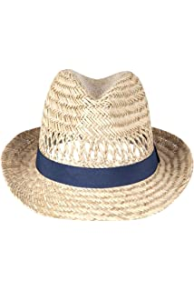 bc99298e217 Mountain Warehouse Trilby Straw Sun Hat - 100% Natural Straw Summer Hat