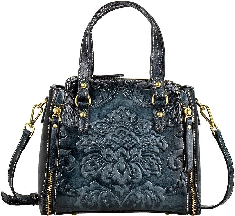 Middle-aged Women Leather Handbag Shoulder Tote Purse Satchel Messenger Bag JH