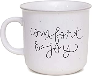 Sweet Water Decor Coffee Mug | 15oz Ceramic Campfire Style Coffee or Tea Cup For Hot or Cold Drinks | Microwave and Dishwasher Safe | Cute Seasonal Gift (Comfort and Joy)