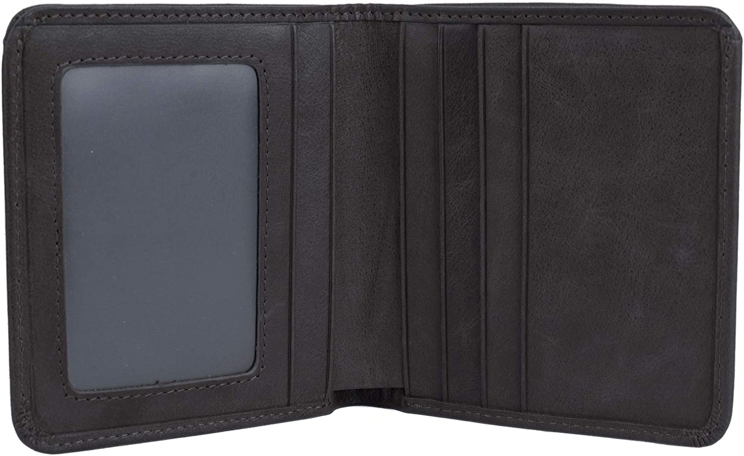 YALUXE RFID Blocking Leather Slim Wallet Credit Card Security Holder Soft Brown