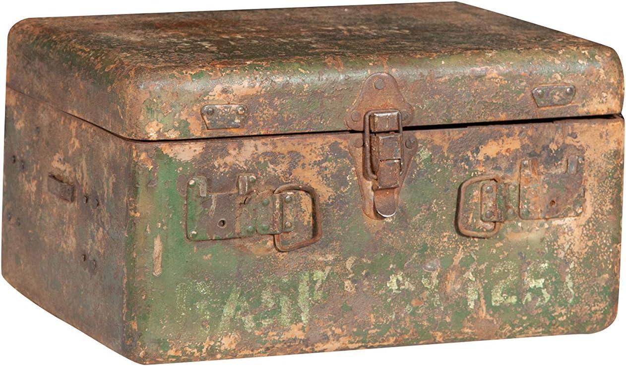 Biscottini - Cajón, contenedor, baúl, caja militar para municiones de hierro, 35 x 26 x 20 cm: Amazon.es: Hogar